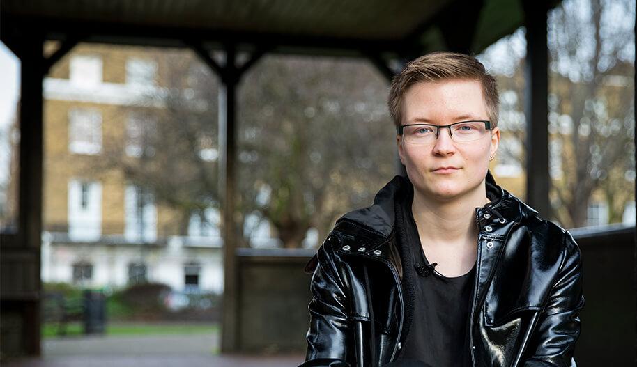 Kuva Sakris Kupilasta transihmisten oikeuksia puolustavassa kampanjassa