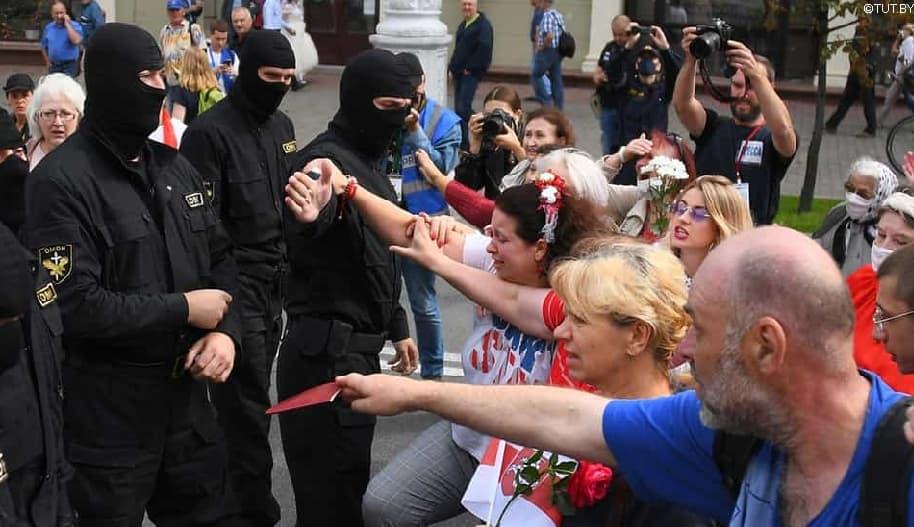 Osoita tukesi Valko-Venäjän mielenosoituksissa vangituille