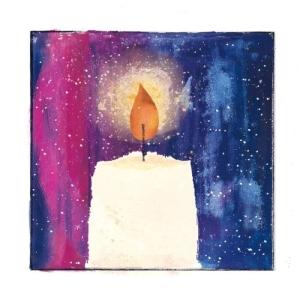 Valoa ja rauhaa -joulukortti